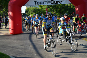 Tour de Cure 2017 finish line